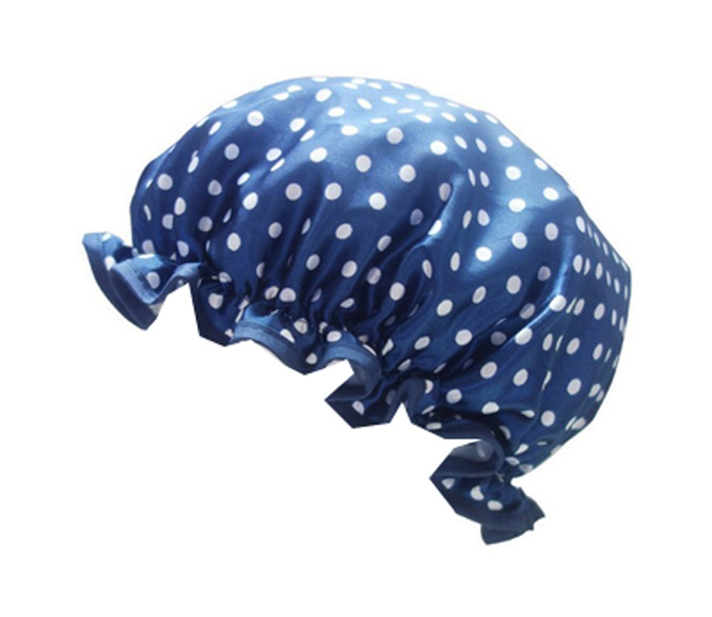 Two Cute Adult Waterproof Shower Caps For Kitchen Hat-Dark Blue Point Dragon Sonic