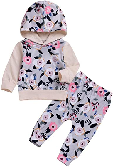 Boutique Baby Kids Girls Mermaid Hooded Tops Long Pants 2Pcs Outfits Set Clothes