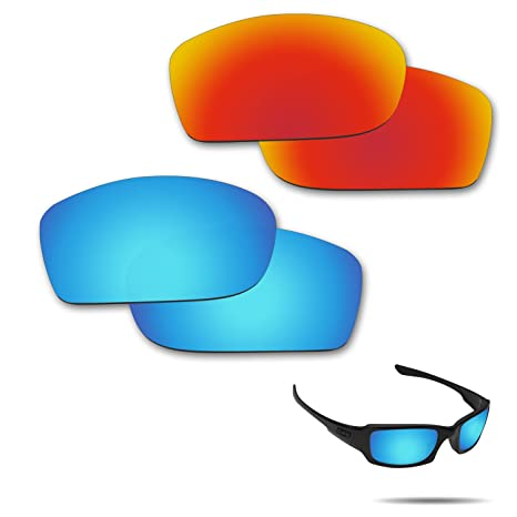 691754e9cd3 Image Unavailable. Image not available for. Color  Fiskr Anti-Saltwater  Polarized Replacement Lenses for Oakley Fives Squared Sunglasses ...