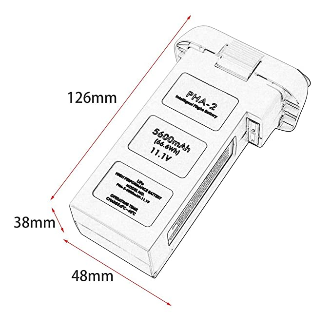 Amazon Com 5600mah Intelligent Flight Battery For Dji Phantom 2