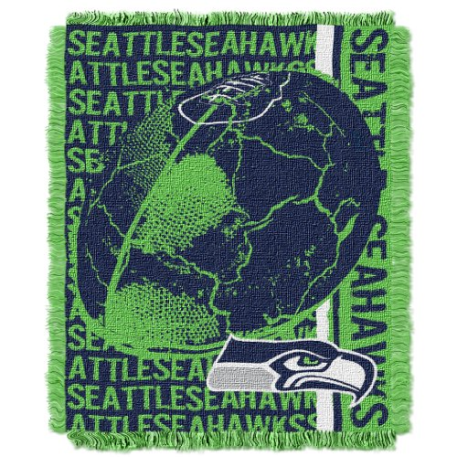 The Northwest Company Officially Licensed NFL Seattle Seahawks Double Play Jacquard Throw Blanket, 48