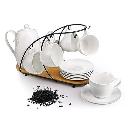 Amazoncom Ceramic Tea Cup Set Including 6 Pcs Tea Cup And Saucer