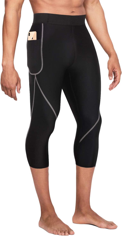 Bingrong Pantalones para Adelgazar Hombre Pantalón de Sudoración Adelgazar Pantalones de Neopreno para Ejercicio para Pérdida de Peso Deportivo