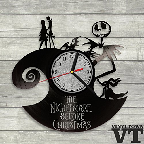 The Nightmare Before Christmas Jack Skellington Sally Vinyl Record Wall Clock Living Room Decor Perfect Gift For Your Kids And Children Decorative Elements For Home Buy Online In Aruba At Aruba Desertcart Com Productid