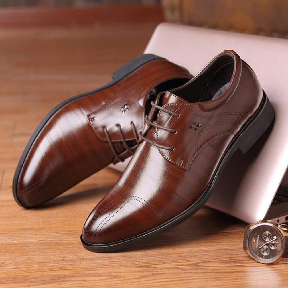 Phil Betty Mens Business Dress Shoes Rubber Outsole Comfortable Oxfords Shoes by Phil Betty (Image #7)