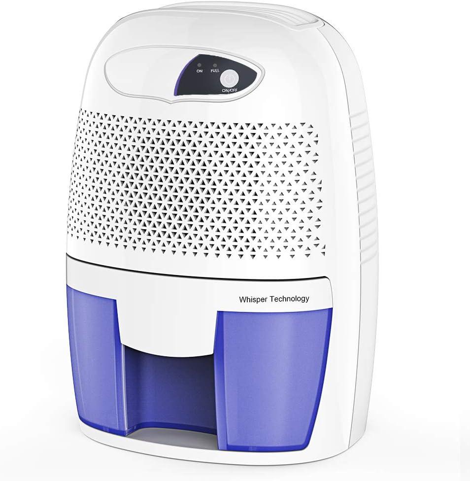 D/éshumidificateur Electrique dair Deshumidificateurs Absorbeurs dHumidit/é 900ml R/éservoir deau Mini Portable Dehumidifier Anti-humidit/é et anti-odeur silencieux et portable pour la moisissure