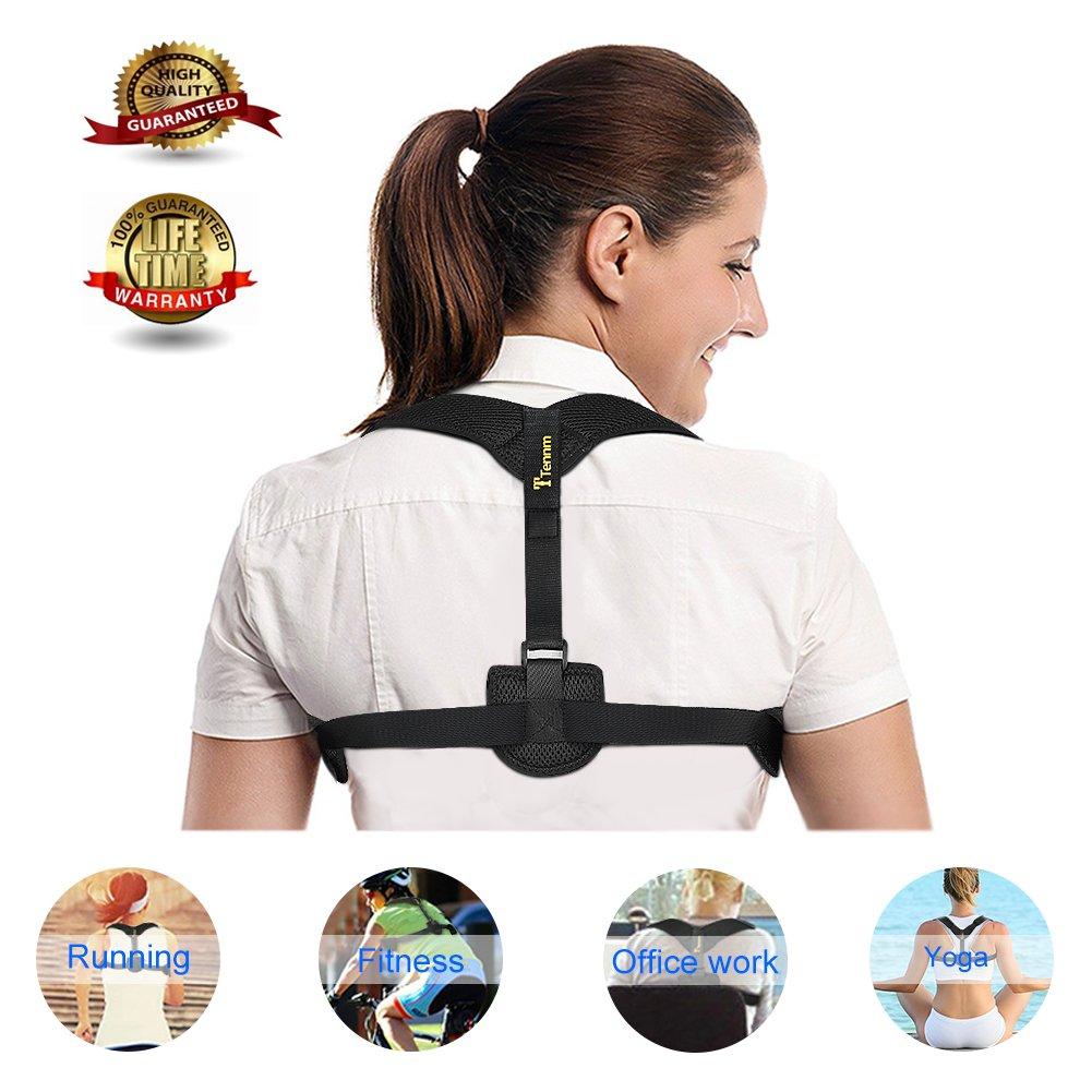 Back Posture Corrector Braces for Women & Men,Upper Back Shoulder Supports Adjustable Effective Comfortable Posture,Posture Straightener Clavicle Supports for Back Pain Relief