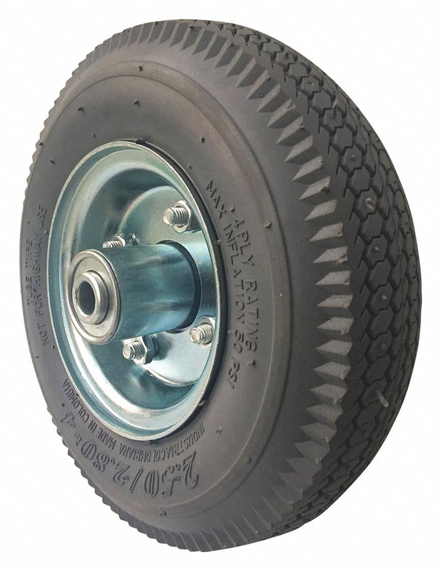 8'' Light-Duty Sawtooth Tread Pneumatic Wheel, 220 lb. Load Rating