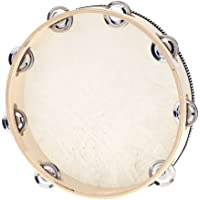 """Docooler 10"""" Hand Held Tambourine Drum Bell Birch Metal Jingles Percussion Musical Educational Instrument for KTV Party…"""