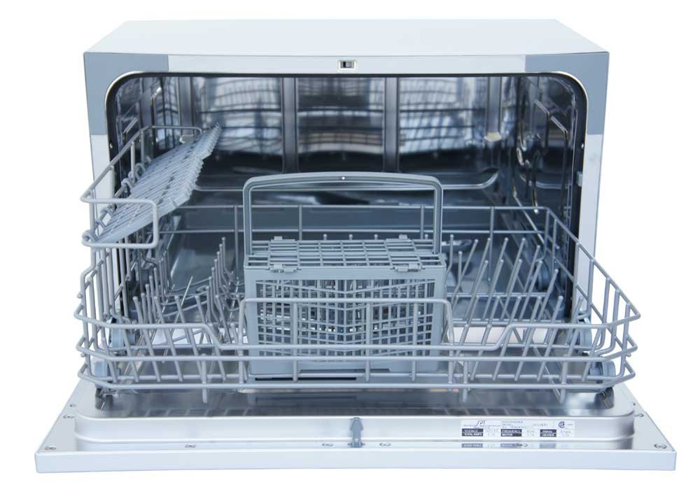SPT SD-2224DS Countertop Dishwasher with Delay Start & LED, Silver Sunpentown