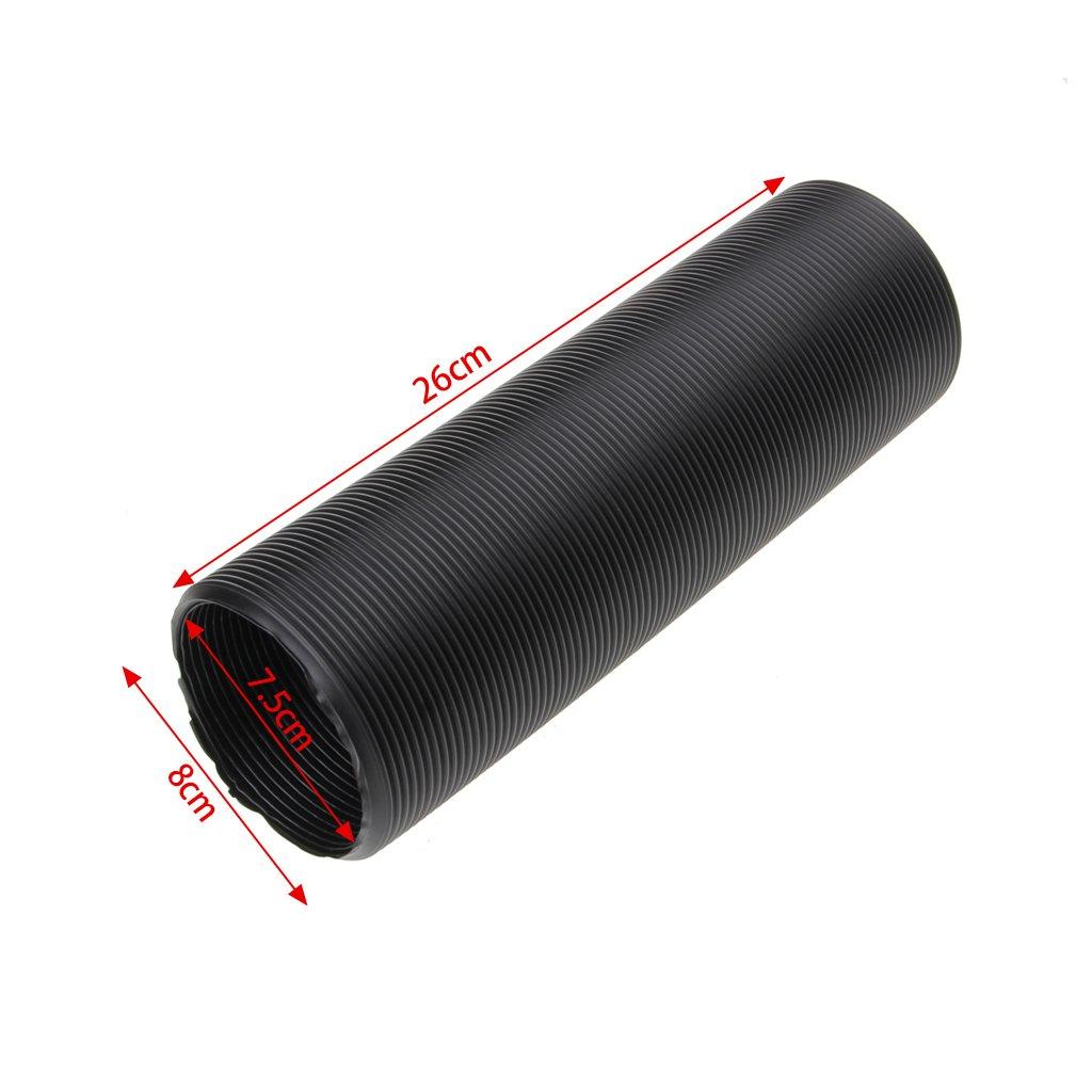 FXCO 1m 80mm Schwarz Auto Luftansaugrohr Schlauchf/ührung Feed Rohr Schlauch Flexible F/ür Luftfilter