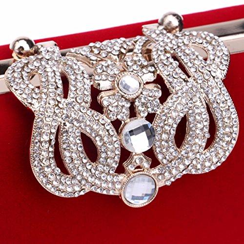 diamante vestido noche XJTNLB la vestido corona Violeta La moda Black banquete de señora de vestido de cena bolso banquetes ZgqFwgOI
