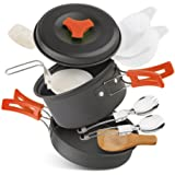 Camping Stove W Piezo Ignition Mini Gas Stove Windproof and Collapsible Camp Burner for Outdoor Backpacking (Butane/Butane Propane Canister Compatible)
