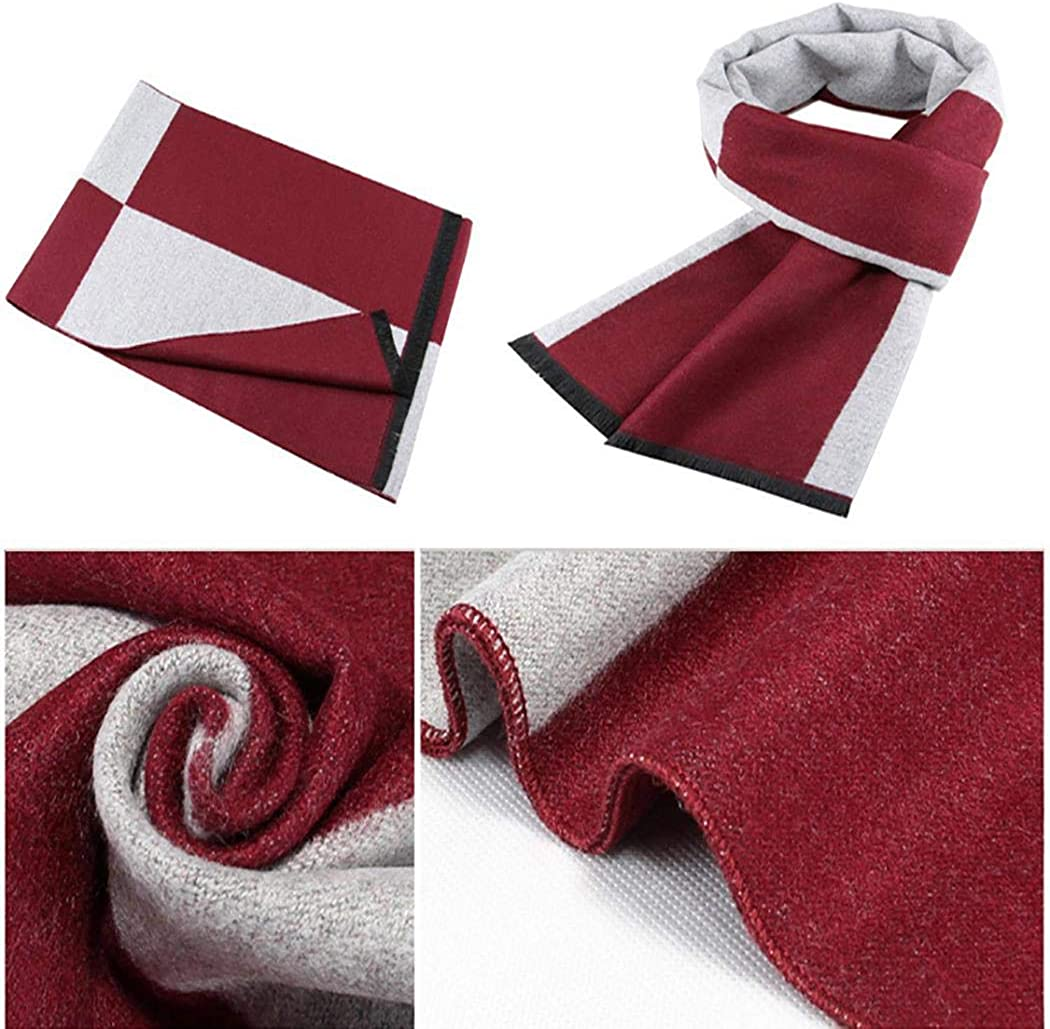 Gonikm Men Fashion Casual Lattice Print Winter Keep Warm Scarf Cold Weather Scarves /& Wraps