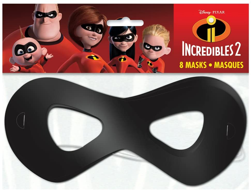 Unique The Incredible 2 Movie Party Masks, 1 Pack