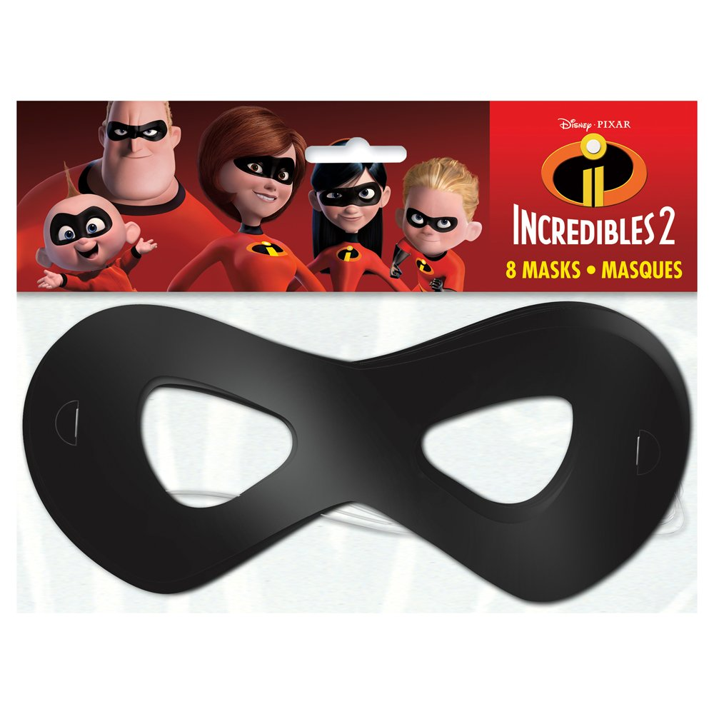 1 Pack Unique The Incredible 2 Movie Party Masks