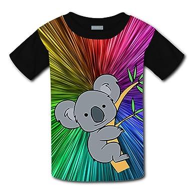 5c25b62ad QLLNICE Climb up A Tree Koala 3D Custom T Shirts Short Sleeve Tee for Youth Kids  Boys Girls: Amazon.co.uk: Clothing