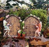 Set of 2 Sparkle Fairy Door Garden Home Ornament Review