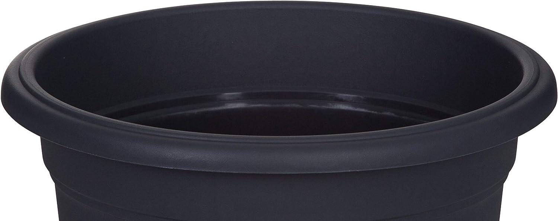 35cm Whitefurze Plastics Set of 2 Grey Milano Round Plastic Flower Plant Planter Pot