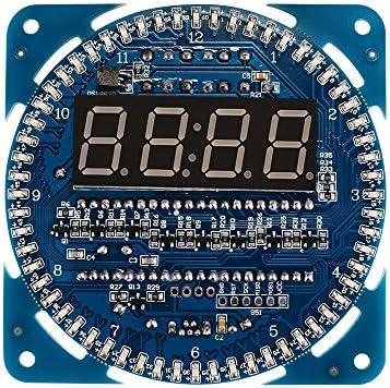 DS1302 Rotating LED Elektronik Digital Uhr Clock Kit 51 SCM 5V DIY Assembled AHS