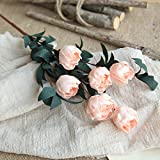 scaling Artificial Flowers Decoration✿ Artificial PE Fake Flowers Rose Floral Wedding Bouquet Bridal Hydrangea Decor (Orange)