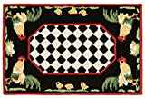 """best french country outdoor kitchen AREA RUGS - """"FRENCH COUNTRY ROOSTER"""" INDOOR OUTDOOR RUG - 24"""" x 36"""""""