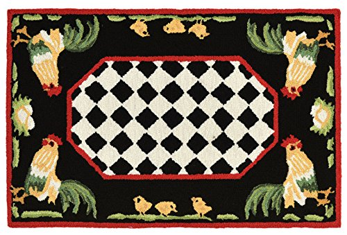 - KensingtonRow Home Collection Area Rugs - French Country Rooster Indoor Outdoor Rug - 24