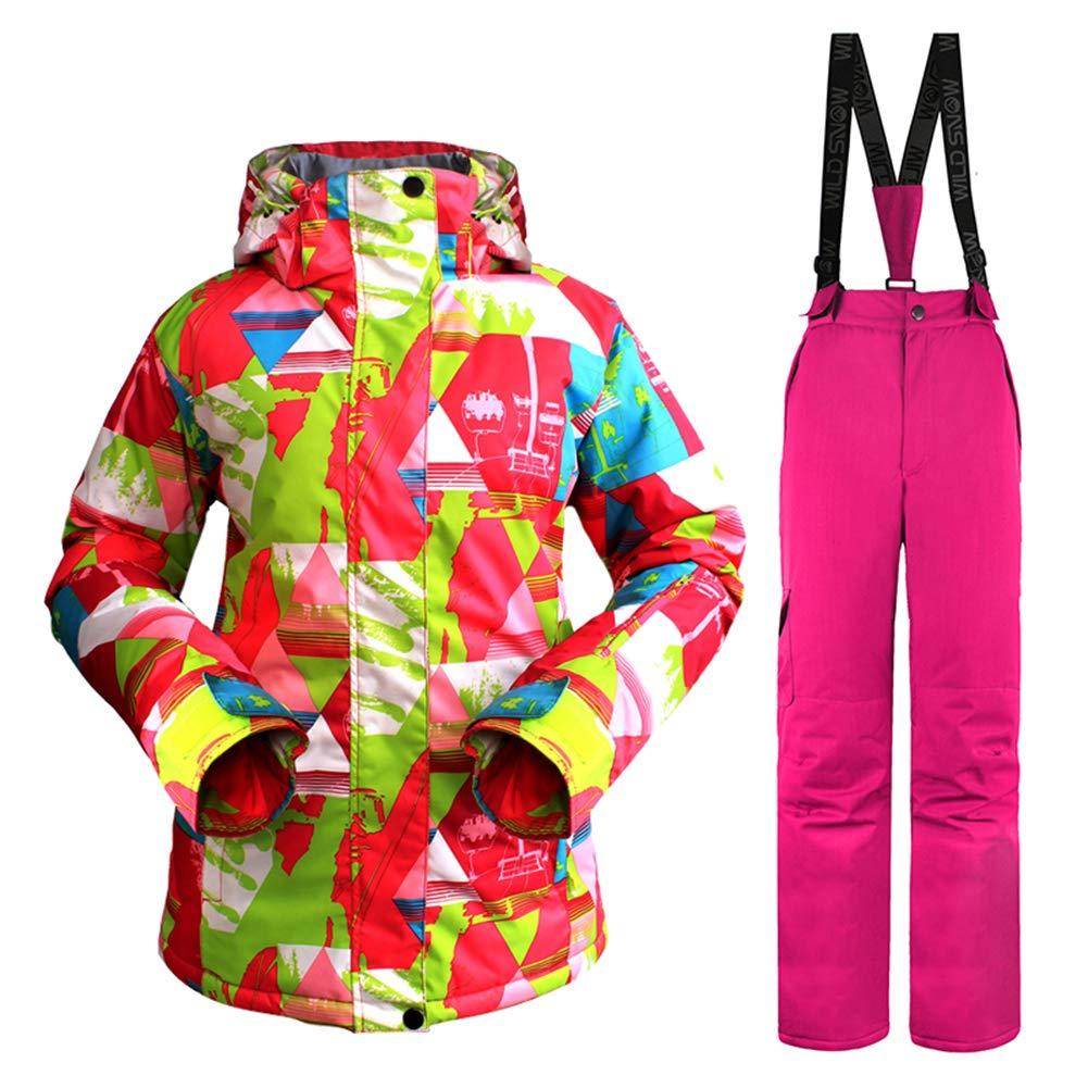 ウィンタースノージャケット女性スキースーツ女性スノージャケットパンツ防風防水カラフルな服スノーボードセット MKchung #2 Medium
