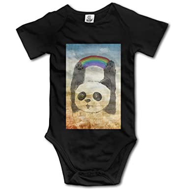 Amazon.com: Body de manga corta para bebé, arco iris, panda ...