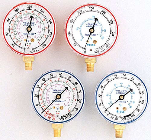 Ritchie Engineering Co., Inc. / YELLOW JACKET 49051 2-1/2'' Red Pressure Manifold Gauge