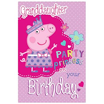 Peppa Pig Birthday Card Granddaughter Amazon Toys Games