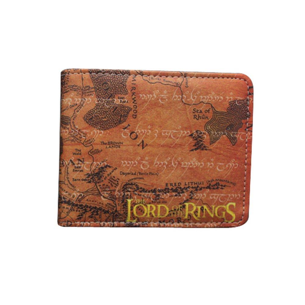 ویکالا · خرید  اصل اورجینال · خرید از آمازون · The Lord of the rings PU Leather Map Bifold Wallet (One Size, Brown) wekala · ویکالا