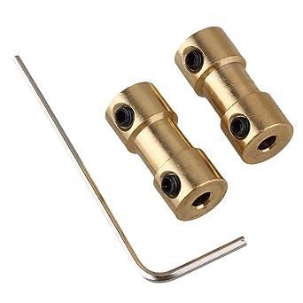 bqlzr dorados 3 x 3 mm Onda embrague Motor de conector latón Joint para RC con