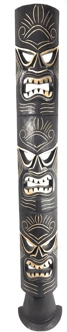 Triple Headed Tiki Mask w/ Stand 60'' - Love, Health & Prosperity | #dpt5131150 by TikiMaster