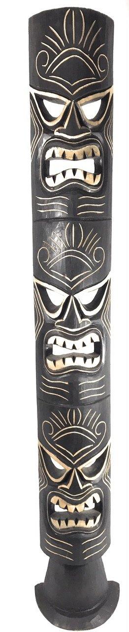 Triple Headed Tiki Mask w/ Stand 60'' - Love, Health & Prosperity | #dpt5131150