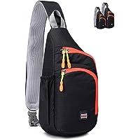 Lecxci Outdoor Chest Sling Bag Lightweight Waterproof Backpack for Kid/Man/Women