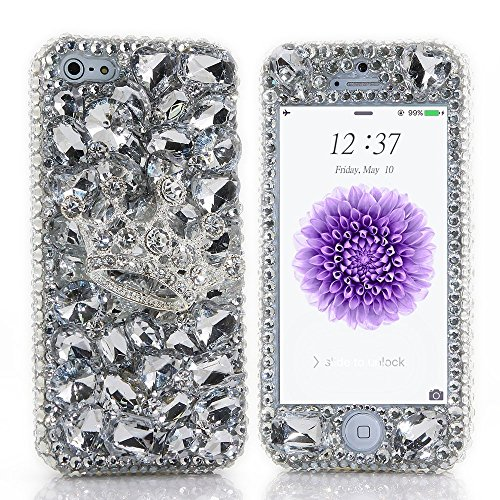 spritechtm-for-iphone-6-47-fashion-bling-cellphone-case3d-handmade-front-and-back-silver-crystal-cro