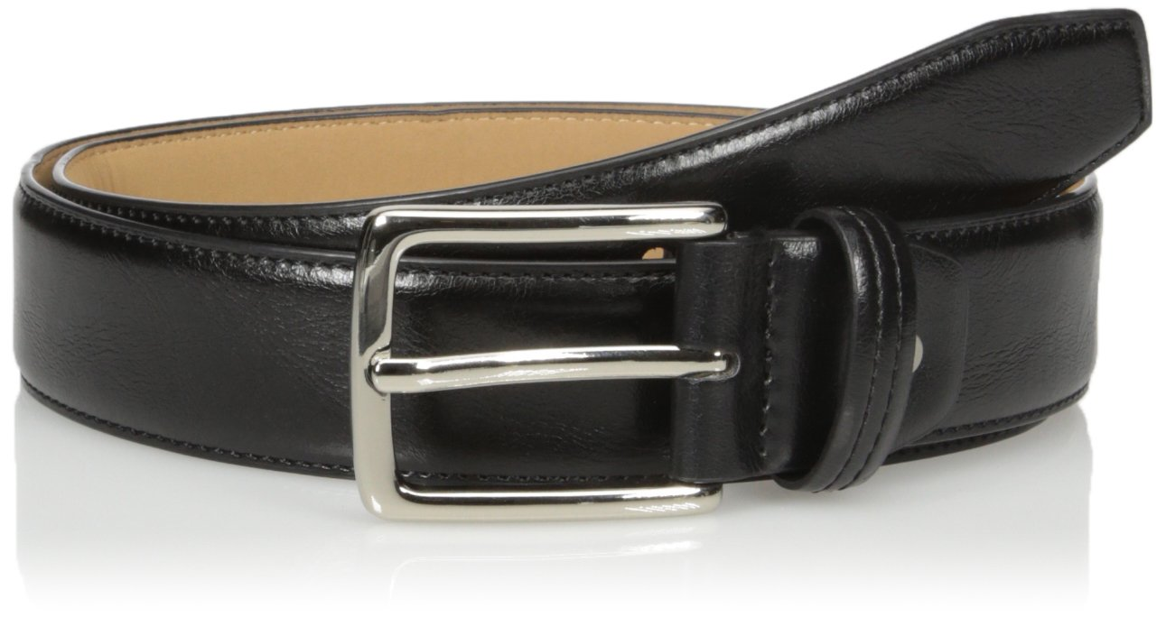 Dockers Men's  Drop-edge Belt,black,34
