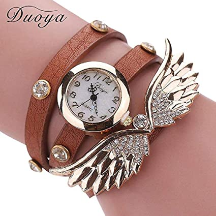 Womens Bracelet Watches Windoson Ladies Watches Female Watches Leather Watch (Khaki)