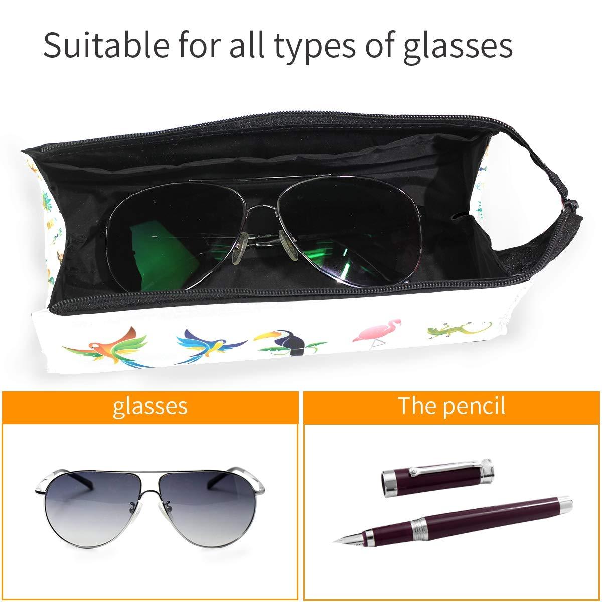 Beach Christmas Glasses Case Portable Soft Sunglasses Pen Bag Protective Box