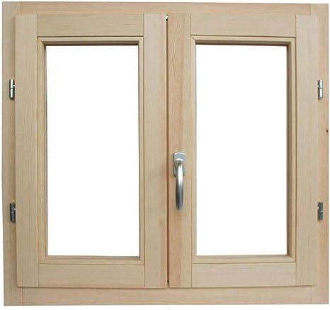 Fenster in rauen Holzfenstern cm L 100 x 100 H in jeder Farbe zu behandeln: Impr/ägnierung // Lackierung Doppelglas Griff gebeizt