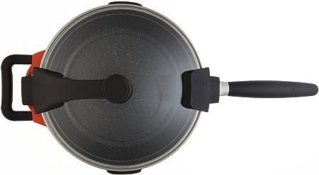 BergHOFF 4410024 Faitout avec Couvercle Bistro Acier Inoxydable M/étal 24 cm 4,5 L