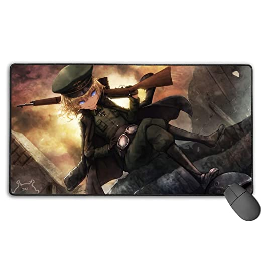 Amazon.com : Portable Laptop Mouse Pad with Stitched Edges ...
