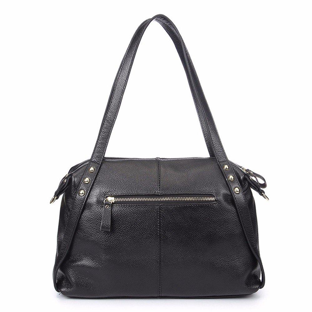 WanJiaherrenhop Mode Dame Handtasche Handtasche Leder Einfache weiblichen Baotou Schicht Rindsleder, 35 x 11 x 25 cm