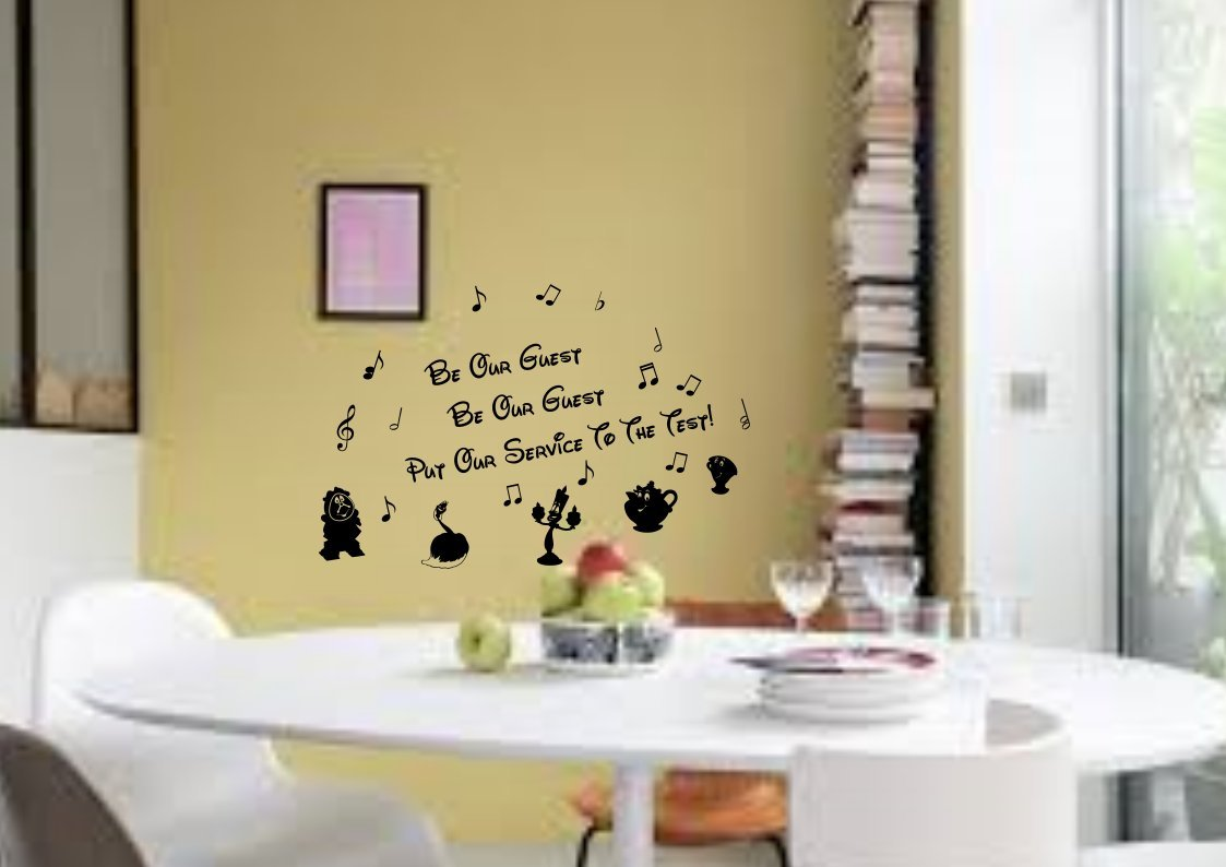 Disney Wall Stickers Beauty And The Beast Wall Art Stickers Decals ...