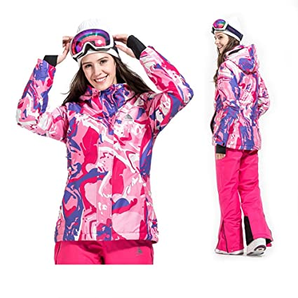 Amazon.com: Kindlov Womens Rain Ski Jacket Ski Suit Suit ...