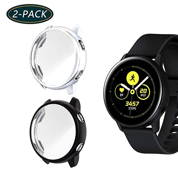for Galaxy Watch Active Screen Protector, KTcpt All-Around TPU Anti-Scratch Flexible Case Soft Protective Bumper Cover for Samsung Galaxy Watch Active ...