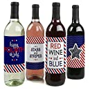 4th of July - Wine Bottle Labels For Independence Day - Set of 4