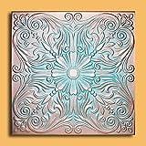 Antique Ceilings Inc - Astana Copper Patina - Styrofoam Ceiling Tile (Package of 10 Tiles)