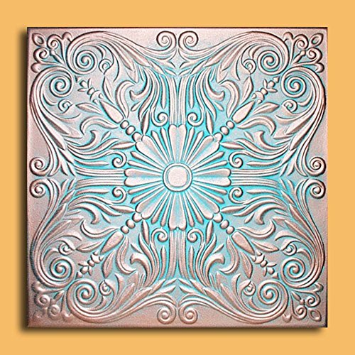Antique Ceilings Inc - Astana Copper Patina - Styrofoam Ceiling Tile (Package of 10 Tiles)